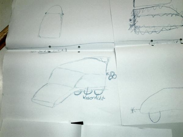 Modellbau Skizze